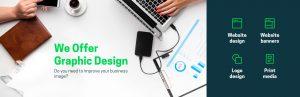We offer graphic design